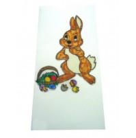 Čestitka - naslikan zajec