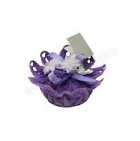 Poročni konfet - kvačkano/milo - lila