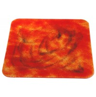 Stekleni krožnik - kvadrat - oranžno/črni