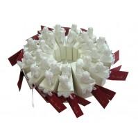 Krstni konfet torta/dvojčka