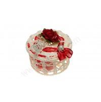 Poročni konfet - kvačkana škatlica/decor