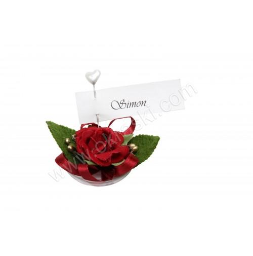 Poročni konfet - 2/1 - bordo rdeča VRTNICA
