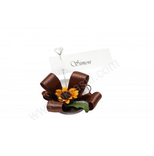 Poročni konfet - 2/1 - rjava SONČNICA