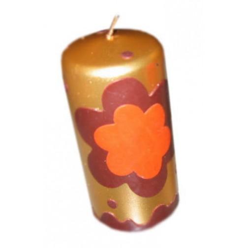 Sveča - rožica/zlata