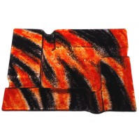 Stekleni pepelnik - oranžno/črn