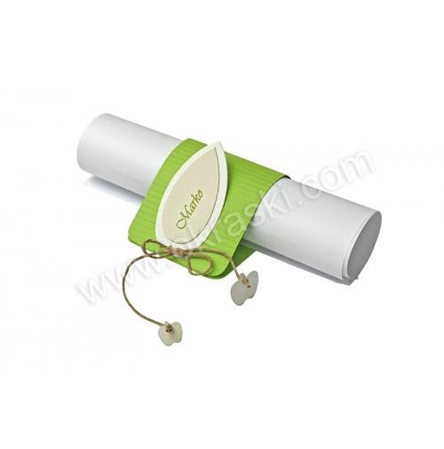 Poročna menu karta in kartica za sedežni red -2/1 - zeleno jabolko