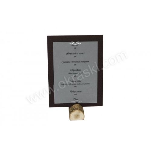 Poročna menu karta - rjava - Josipa