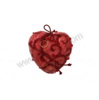 Poročna blazinica - bordo/rdeča - srček