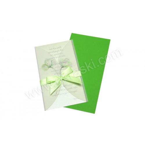 Vabilo za rojstne dneve - zeleno - pentlja
