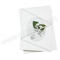 Vabilo - srebrno/bela vrtnica