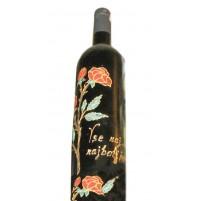 Poslikana  steklenica 1