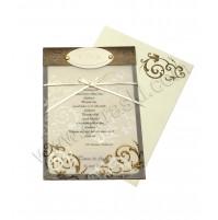 Poročna zahvala - čokoladno rjava - Eol