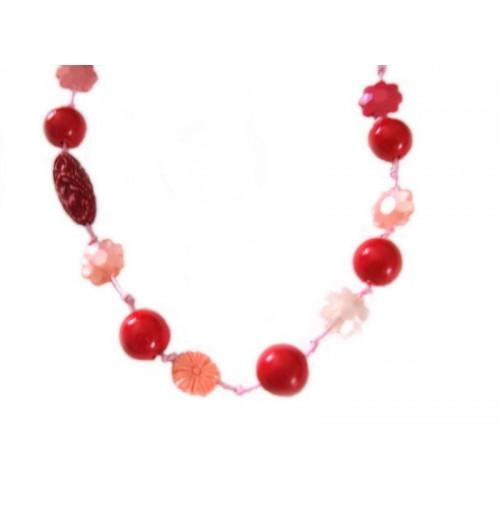 Verižica - roza - rožice