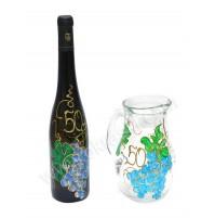 Komplet - steklenica in vrč