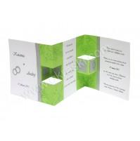 Vabilo - zeleno - Flavia