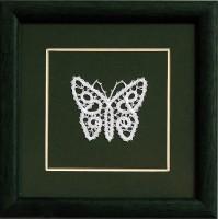 Slika s čipko - metulj 04