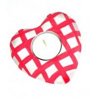 Valentinov svečnik - srce/rdeč