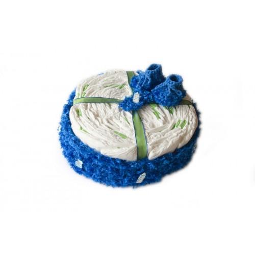 Darilo ob rojstvu - torta iz pleničk/za fantke
