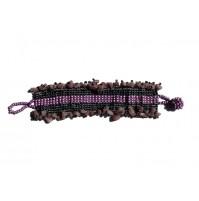 Zapestnica- (vijolična z indijskimi kamenčki)