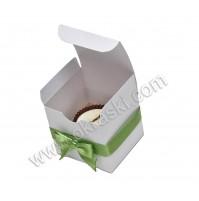 Konfet- čokolada/zelen - pentlja
