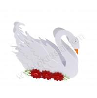 Poročni konfet - rdeči/labod