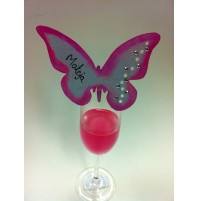 Kartica za sedežni red - metulj 5 - roza
