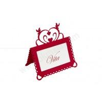 Kartica za sedežni red - bordo/srce