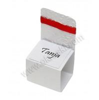Kartica za sedežni red - rdeča/stolček