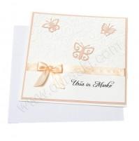 Vabilo - belo/marelično - metulji