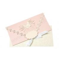 Vabilo - roza/denarnica