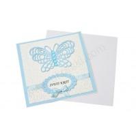 Vabilo - krst /modro - metuljček 1