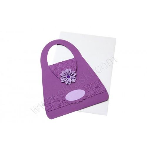 Vabilo - lila/torbica