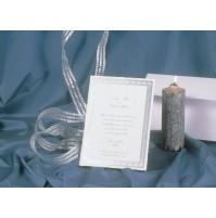 Vabilo - belo z srebrnim okvirom