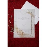 Vabilo - bela vrtnica-tiskana