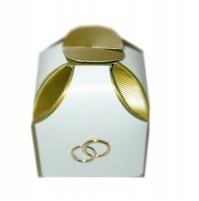 Poročni konfet - zaoblen/zlat