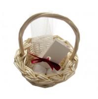 Poročni konfet - košarica/natur