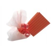 Poročni konfet - oranžen 1