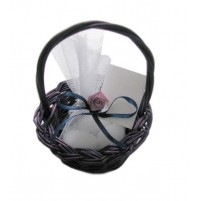 Poročni konfet - košarica lila/modra