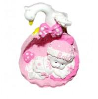 Kipec dojenček - košara/roza