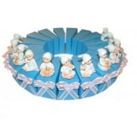 Krstni konfet - torta/modra