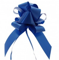 Mašna na poteg - modra - velika