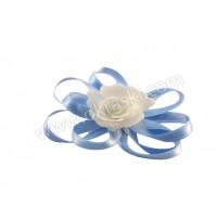 Poročni-naprsni-šopek-bela-modra-rožica