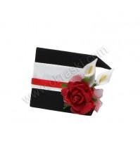 Kartica za sedežni red - belo/črna - vrtnica