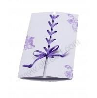Poročna menu karta - lila/odtis