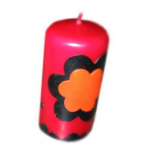 Sveča - rožica/rdeča