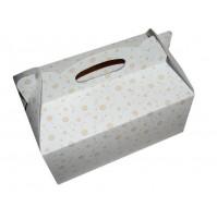 Poročna škatla za pecivo - oranžne rožice/večja
