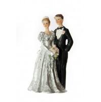 Poročna figura - ženin in nevesta/srebrna poroka