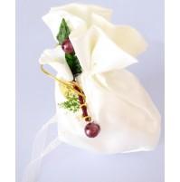 Poročni konfet - mošnjiček/bel