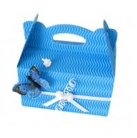 Škatla za pecivo - modra/metulj