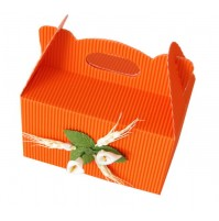 Škatla za pecivo - oranžna - mala